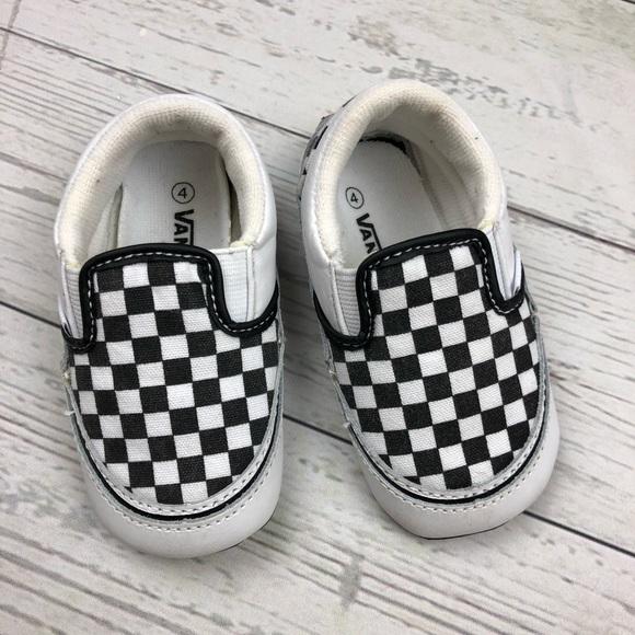 Vans Classic Checkerboard Slip On Crib Shoes